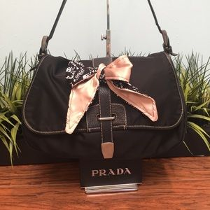 Authentic Prada Nylon & Leather Large Bag dcb1020
